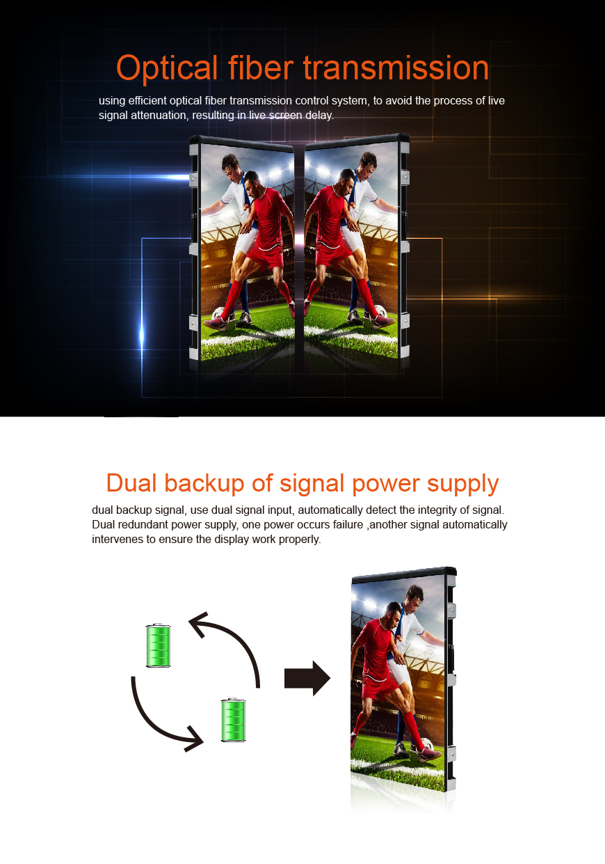 P8 outdoor full color led display / Stadium sport live high brightness large led screen/ advertising
