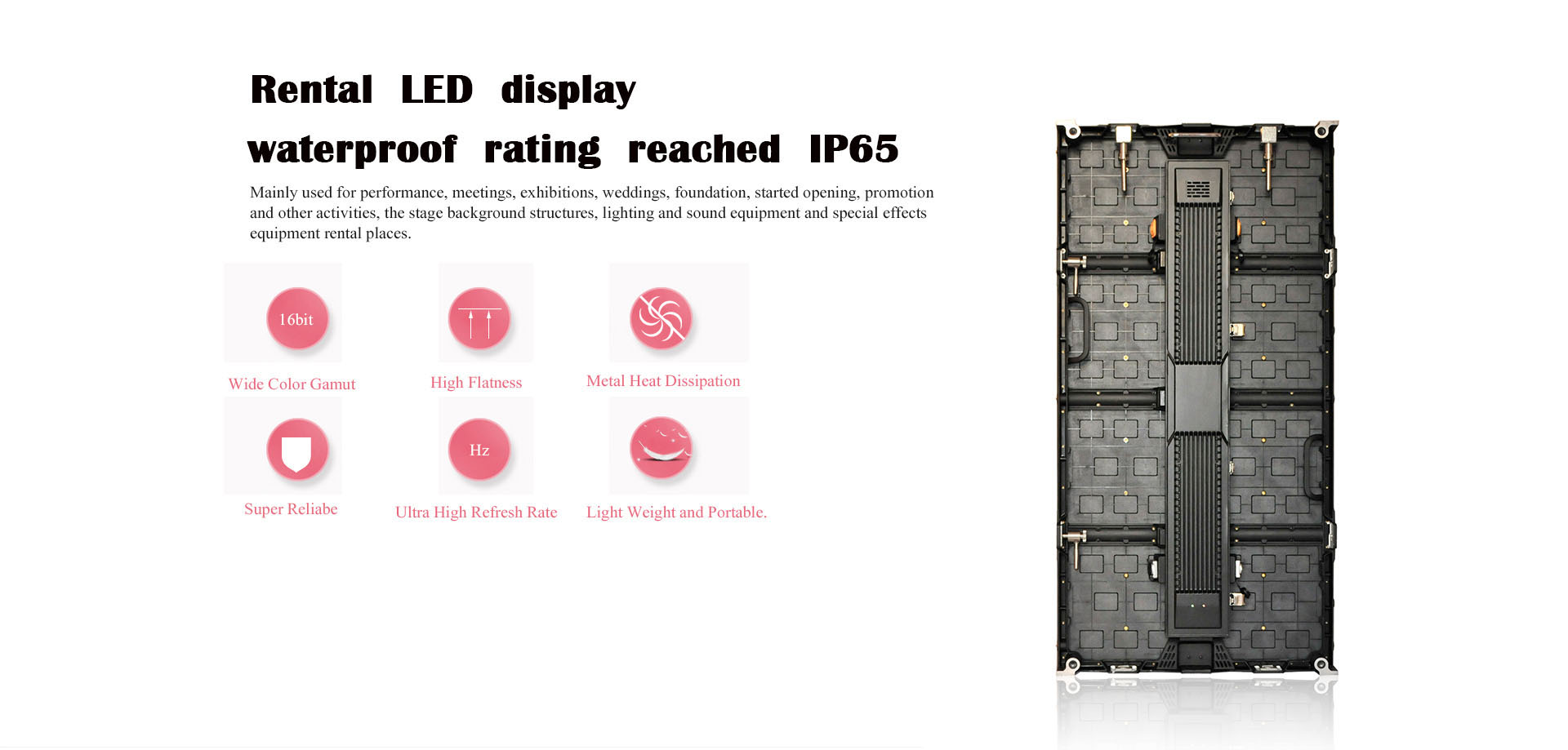 HD Outdoor P2.97 Full Color Adverting Rental LED Display Screen For Event show