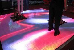 game Interactive Tiles Video Dance Floor P5 LED Display Screen With Wedding Party
