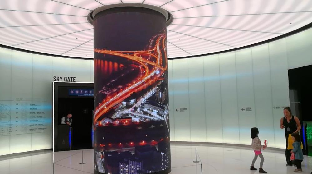 High definition Four Sided LED Screen Pillar column pillar led panel square pole Led Display