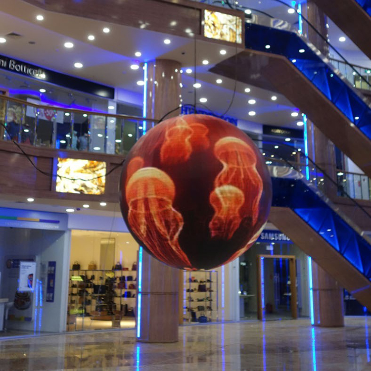 Diameter 1m/1.5m/2m/3m/4m More Customized Size Ball Sphere Display Screen For Indoor Outdoor