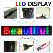 Programmable Scrolling Colorful P10 red green blue white led display signs and billboard