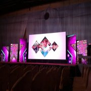 P3.91 Smd Die-Casting Aluminum Concert Stage Led Tv Background Curved Indoor Led Display 3.9mm