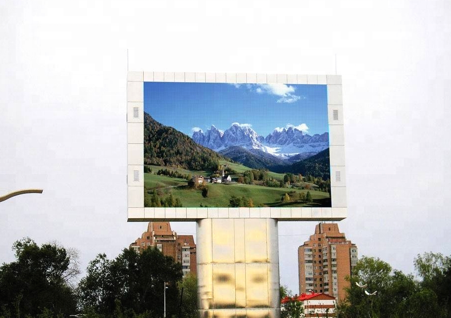 P16 outdoor front service led display with size 2560x1280mm(8x4ft)