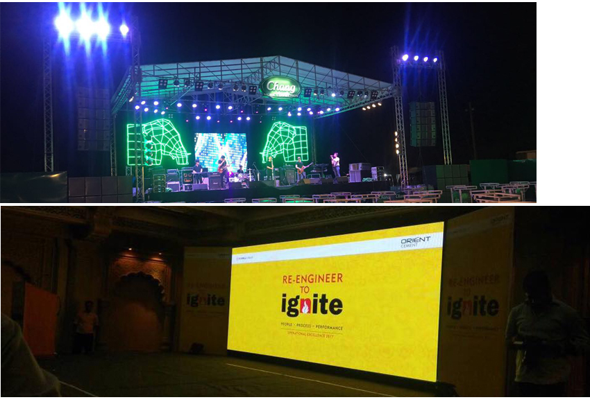 Nation Star lamp Large stage outdoor full color SMD dicolor led display screen p4.81 led module