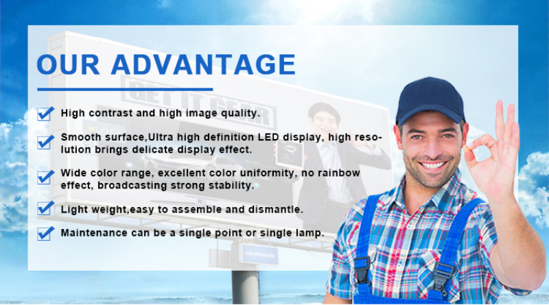 Full color waterproof Best price Shopping Big Advertising Billboard 10mm P10 outdoor LED Display/10m