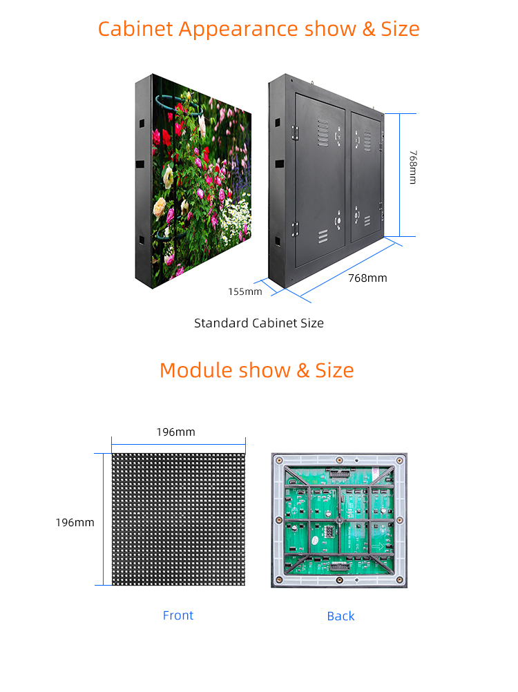 P6mm SMD Outdoor Big LED Video Wall Full Color LED Display Screen Billboard For Advertising Building