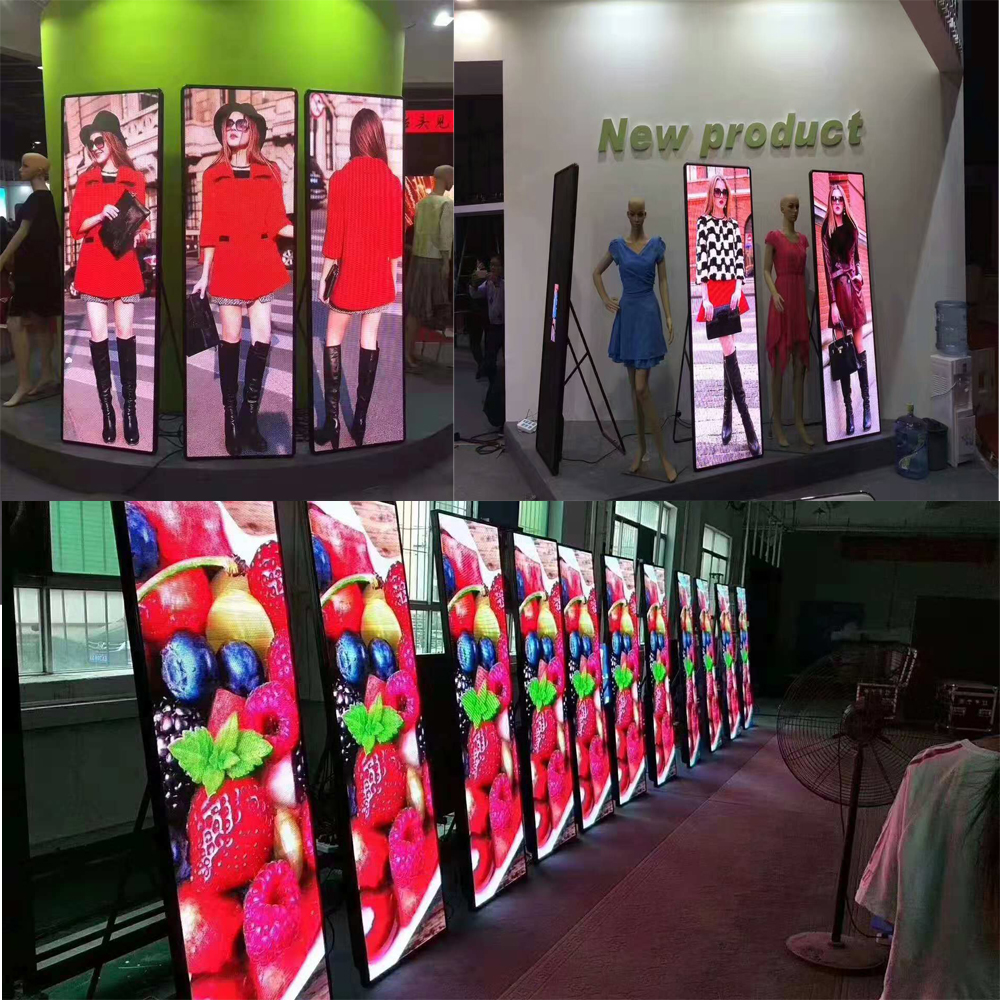 Small Pixel Pitch HD p2 .5 Indoor LED Poster Screen Billboard
