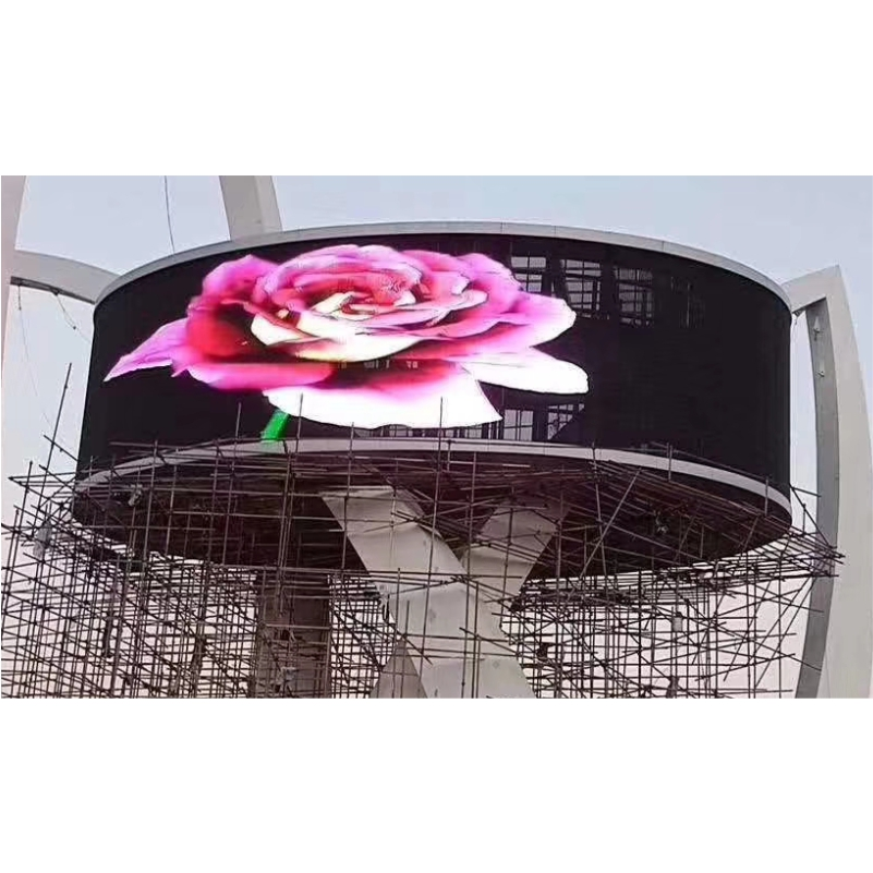 Outdoor high brightness P7.81 P16 P20 P25 media facade led video wall for building ultra-light led