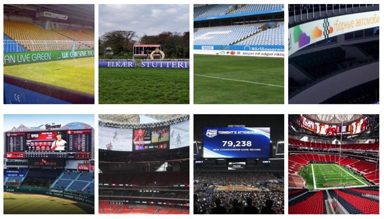 HTL High brightness indoor P10 football stadium perimeter led screen display Indoor Smd Led Display