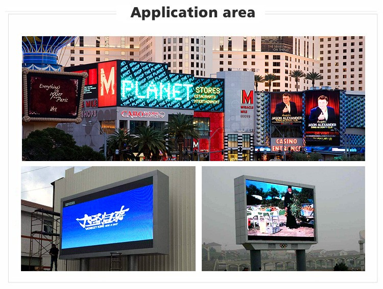 Outdoor led display p6 advertising waterproof p5 p8 p10 display/sign/screen for thailand