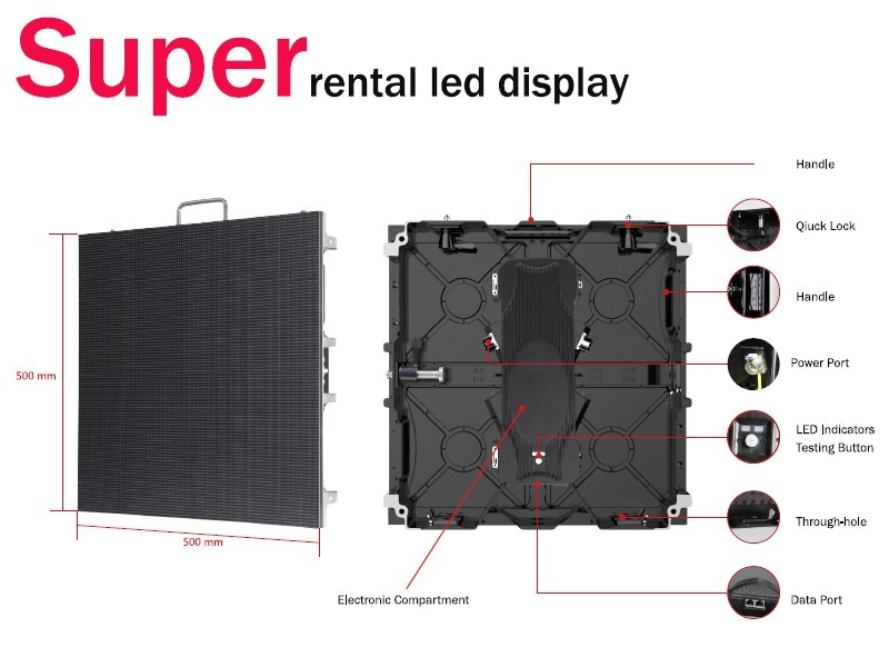 Indoor Rental P3.91 P4.81 LED Display Screen Full Color LED Video Wall Price P4.81