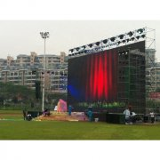 series 500*1000mm P3.91 curve hanging rental events outdoor led screen display