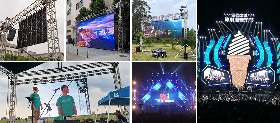 P3.91/4.81/5.95/6.25 RGB Outdoor Waterproof Anti-Shock Comercial Rental LED Display Screen