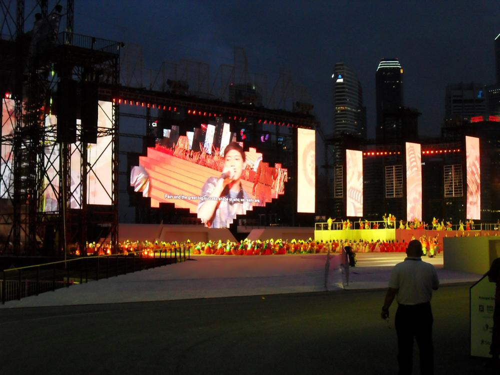 Stage use full colour led display outdoor p3.91 led screen on sale