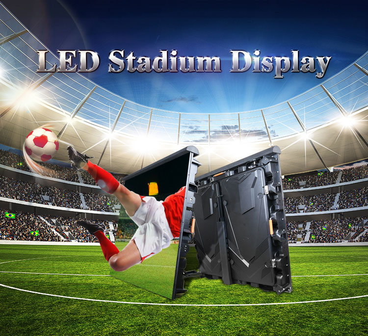 P10 Indoor Outdoor Led Screen with Back Support Stadium Perimeter LED Display
