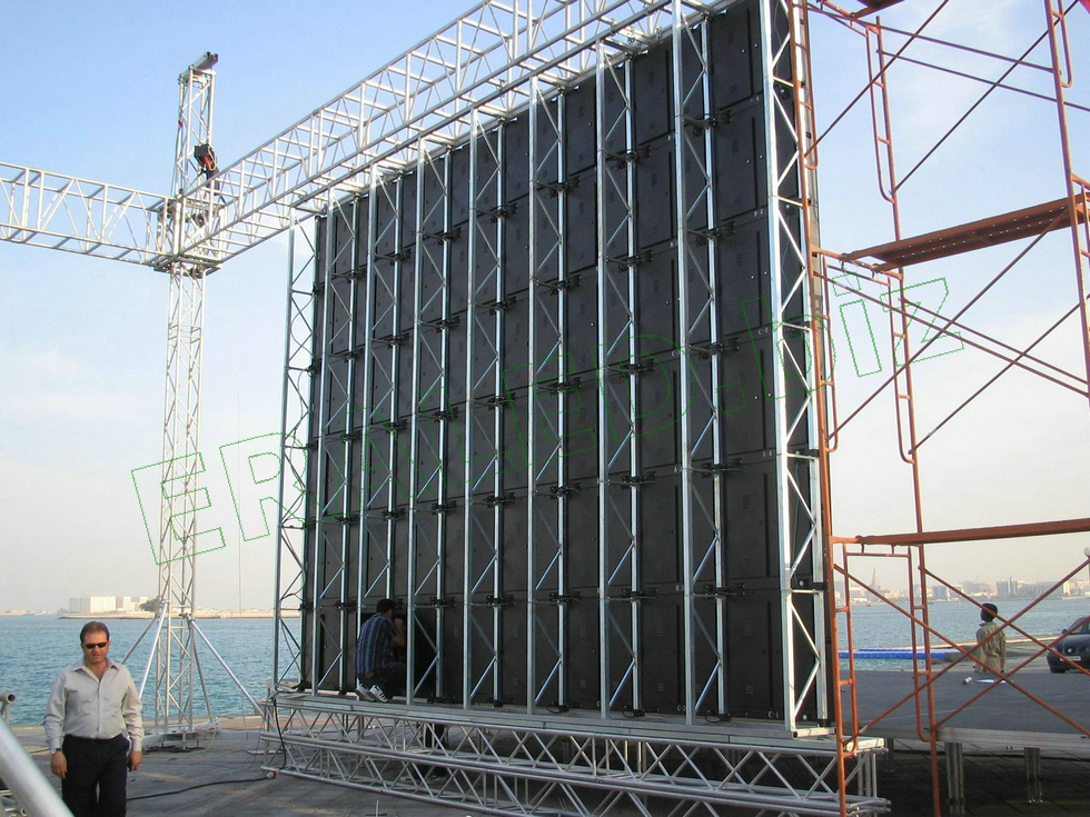 P10 Outdoor LED Video Wall Rental 1/4 Scan LED Display