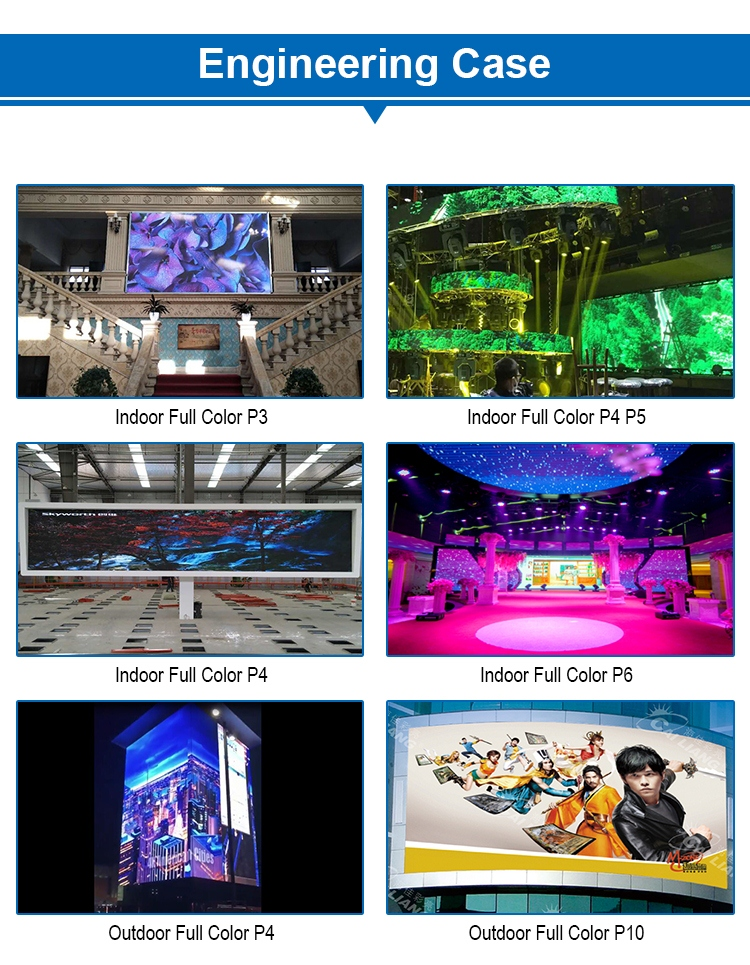Commercial LED Display Panel Indoor p1.66 p2.5 p3 p3.91 p4 p4.81 p5 p6 p8 p10 p16 LED Wall Display