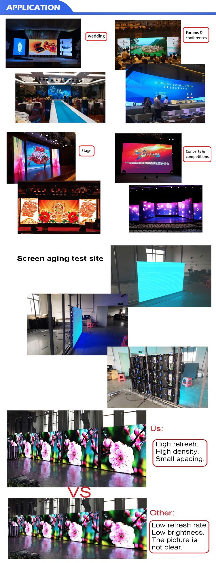 Popular sell indoor rental die casting aluminum cabinet p4.81 flexible led screen