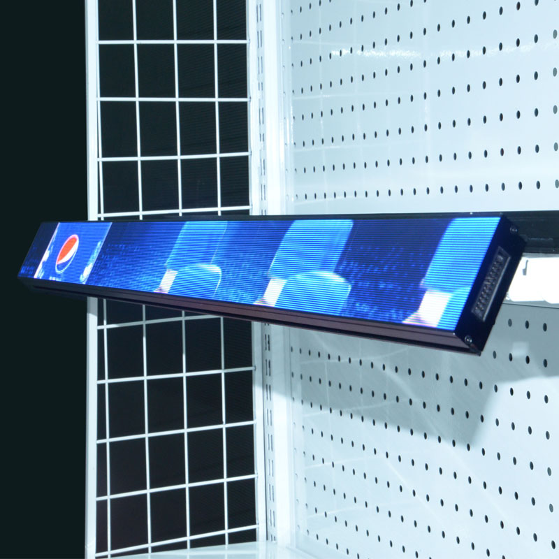 HD 600*60mm P1.25mm COB indoor shelf led screen use for supermarket