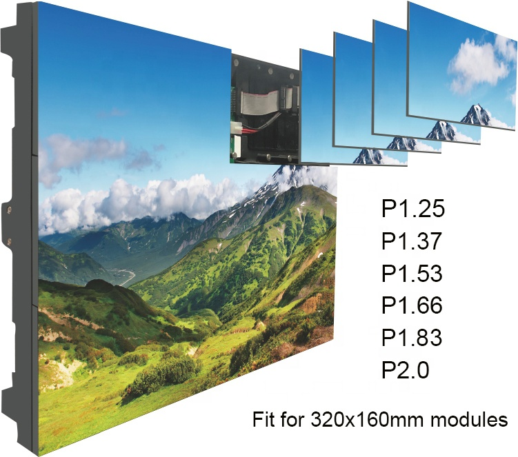P1.25 High Resolution smd full color LED display screen video wall