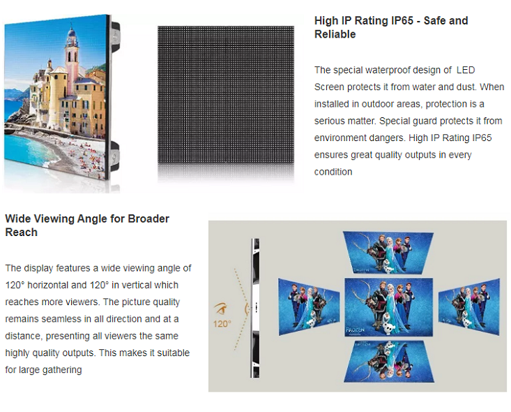Shenzhen factory price P2 indoor full color led video display screen