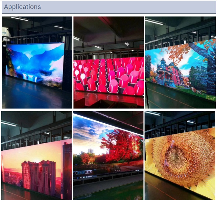 Die Casting Aluminum Cabinet Indoor HD Rental P3.91 LED Display 500x500mm/500X1000mm